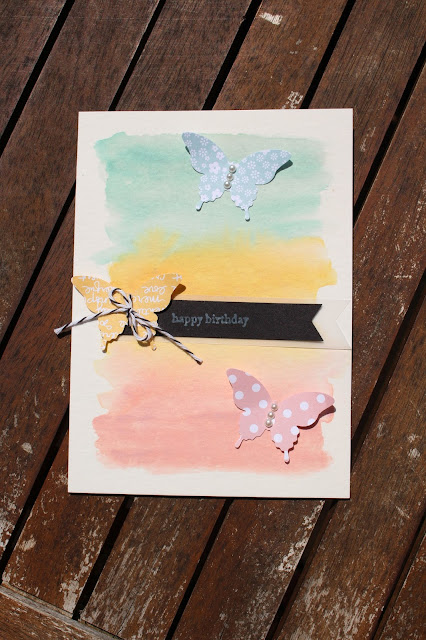 Watercolour Paper, Papillon Potpourri, Baker's Twine, Stampin' Up!