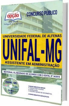 Apostila UNIFAL 2018 Assistente em Administração