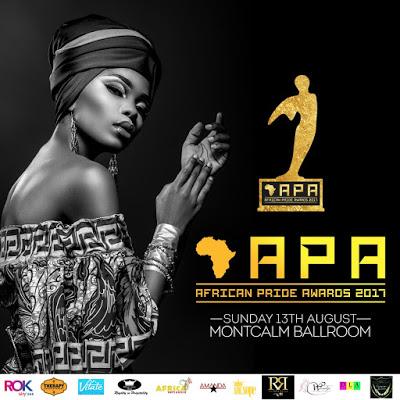 John Dumelo, Abraham Attah, Wizkid, Davido, Nana Ama McBrown, Mr Eazi, Abrantee & More Nominated For 2017 African Pride Awards
