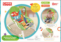 Bouncer Care Baby CPR71061 Elephant New Born-to-Toddler Portable Rocker