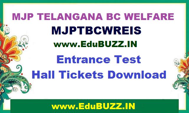 MJP TS BC Welfare,6th,7th Classes Entrance Test Hall tickets,mjptbcwreis