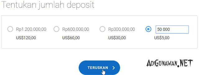 Minimal deposit di broker OctaFX