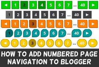 Tạo phân trang cho Blogspot