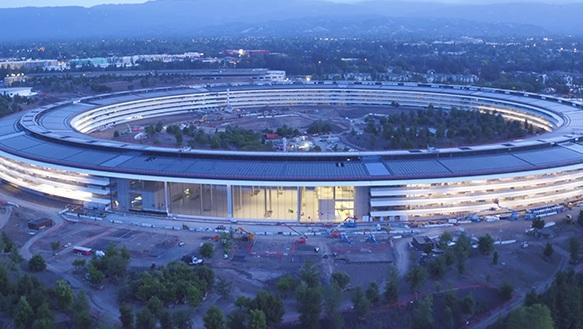 Kantor Apple Mirip UFO Mayoritas Kaca Sering Ditabrak Karyawan