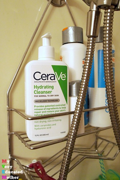 One of the quickest ways to make sure you wash your face is to keep your cleanser in the shower! #CeraVeSkinCare #CollectiveBias
