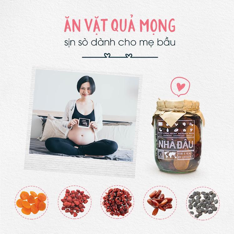 Thai nhi đạt chuẩn cân nặng nhờ Mẹ ăn hạt dinh dưỡng