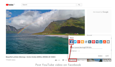 Embed Youtube Video Facebook<br/>