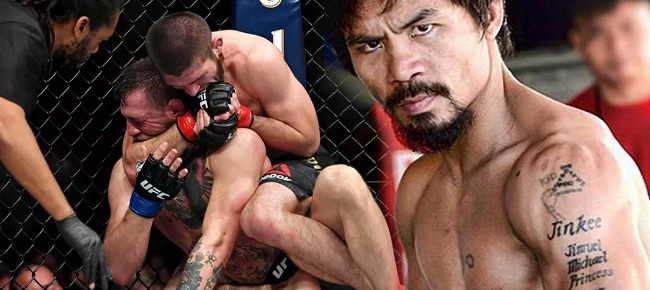 Manny Pacquiao REACTS to Conor McGregor-Khabib Nurmagomedov Post Fight Brawl