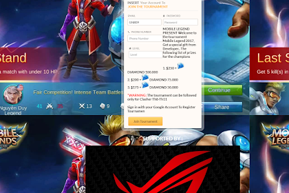 Script Phising Mobile Legend Tampilan Tournament Terbaru 2017