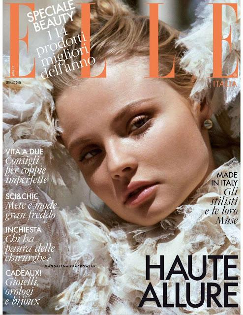 Fashion Model, @ Magdalena Frackowiak by Matt Jones for ELLE Italia, January 2016