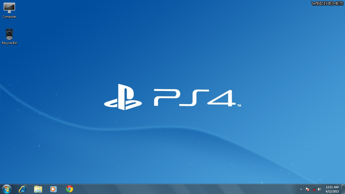 PlayStation Theme For Windows 7 2019 Ver 8 9 Included
