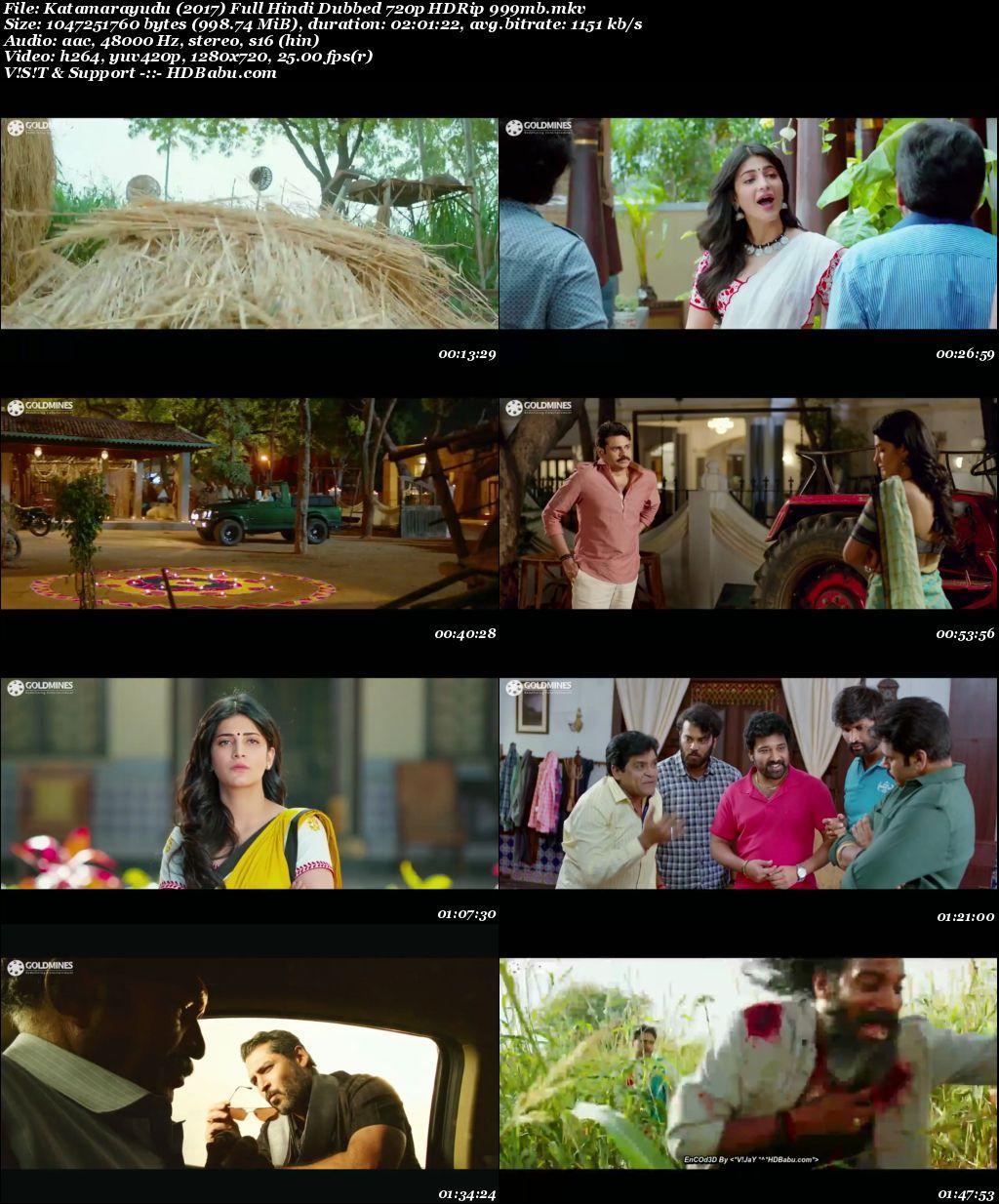 Katamarayudu (2017) Full Hindi Dubbed 720p HDRip 999mb Screenshot