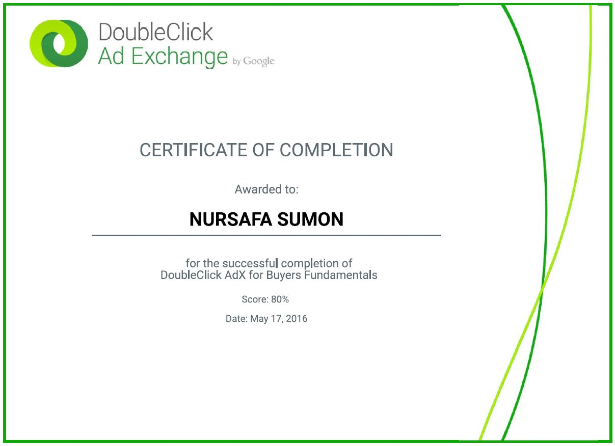 DoubleClick AdX Buyer Fundamentals Certificate - Trained24 is best ...
