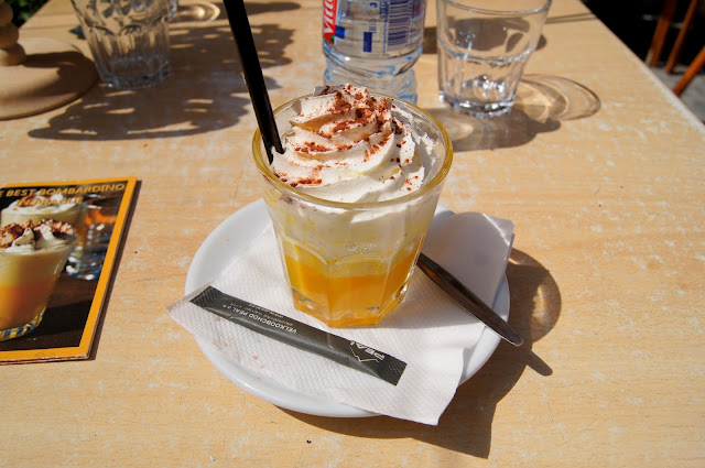 Bombardino italian drink