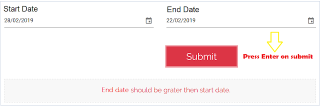 Angular 7 and 8 Validate Two Dates - Start Date & End Date - Angular