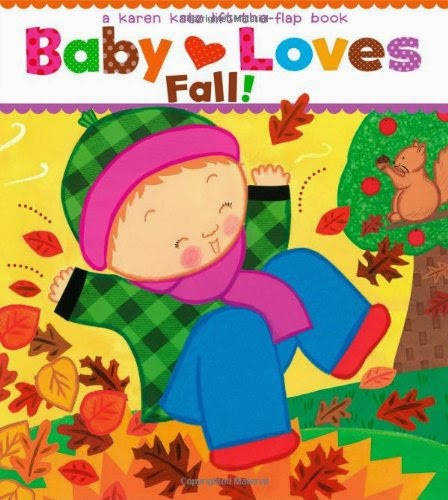 Baby Loves Fall, part of children's book review list about fall
