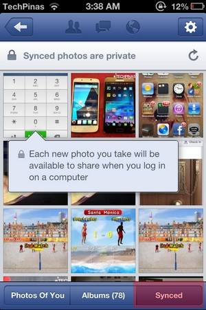 turn off auto sync photos iphone