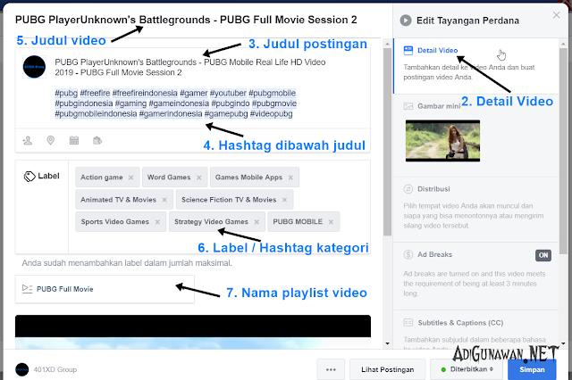 Cara meningkatkan video fanspage fb