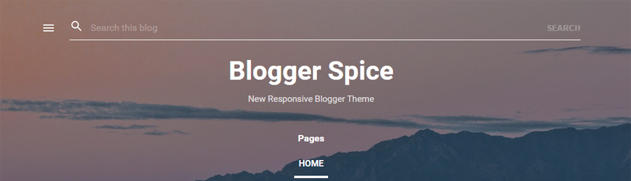Search Bar in New Blogger Theme