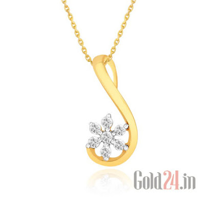 Nakshatra Gold Pendant with Diamonds 4