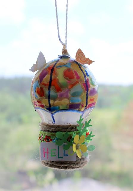 воздушный шар, из лампочки