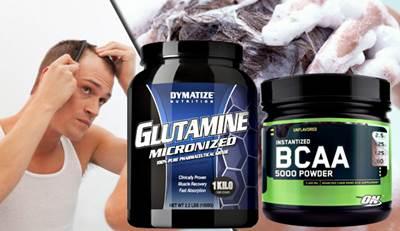 La glutamina y los BCAA no causan pérdida de cabello