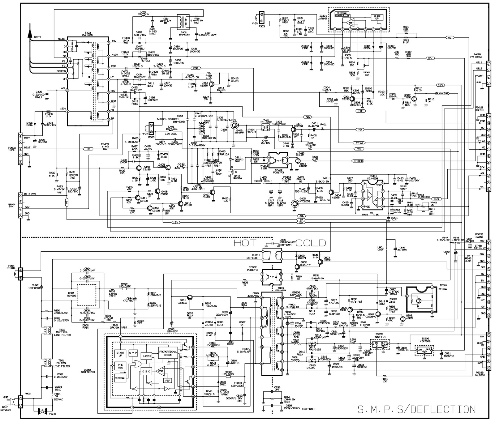 wp32a30 lg 32 inch crt tv circuit diagram [ 1600 x 1365 Pixel ]