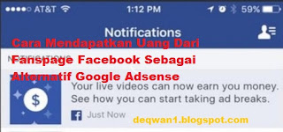 monetise video fanspage facebook