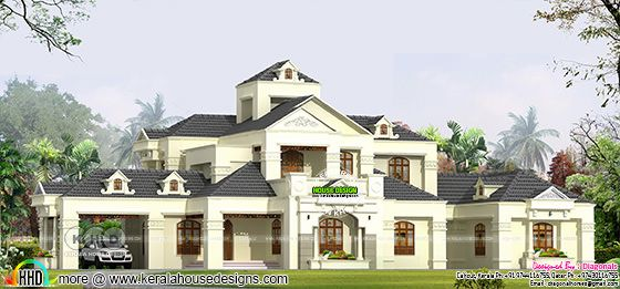 5 BHK 6155 square feet Colonial model home