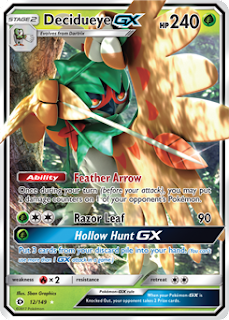 Decidueye GX Sun and Moon Pokemon Card