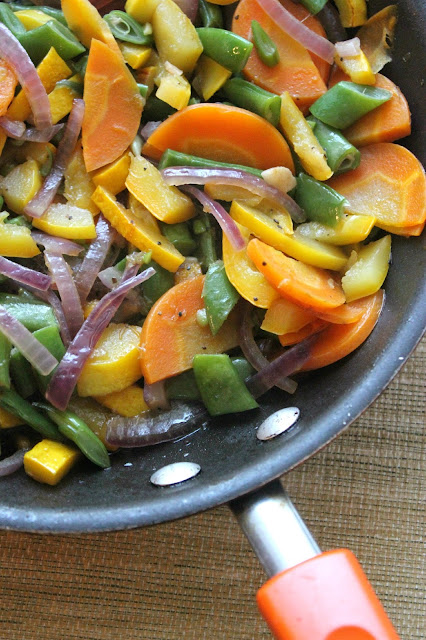 See what colorful side dish we came up with from the fruits of our garden this year!