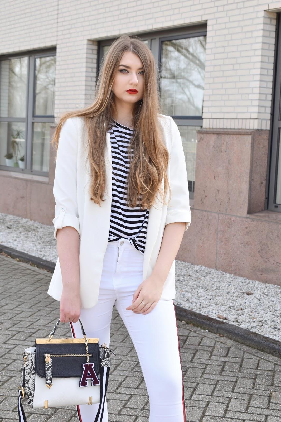 biała marynarka z czym nosić