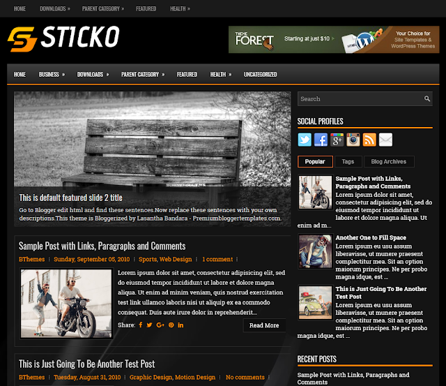 Columns Blogger Template is designed peculiarly for General Free Download Sticko Blogger Template