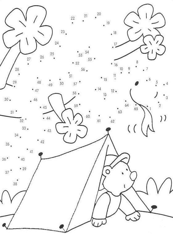 mis lindos dibujos: unir puntos y colorear tienda