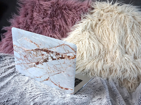 Coconut Lane Rose Gold Marble MacBook Case
