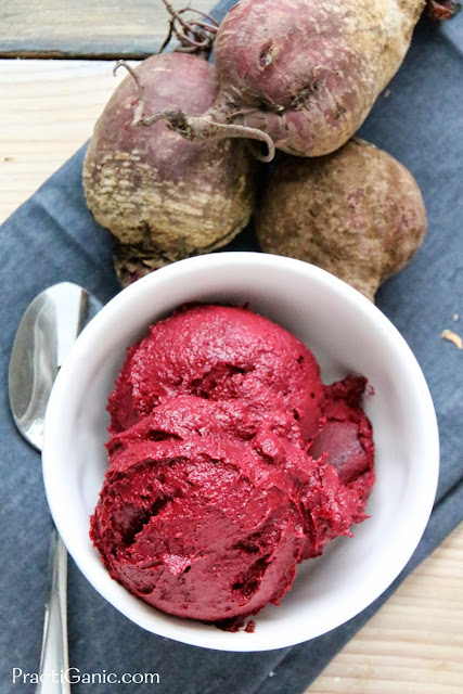 Raw Beet & Chocolate Ice Cream