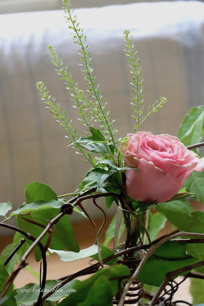 Spring celebration grapevine bird nest centerpiece with fresh roses