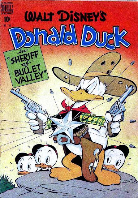 Donald Duck Four Color Comics #199 - Carl Barks 1940s dell comic book cover art