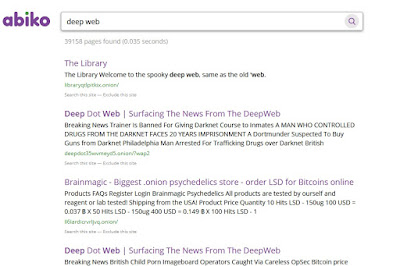 Abiko search engine - Free deep web