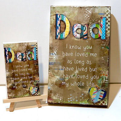 Dad gift idea, Dad Wood Sign, Dad Painted Sign