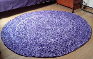 jak zrobić dywanik ze szmatek na szydełku