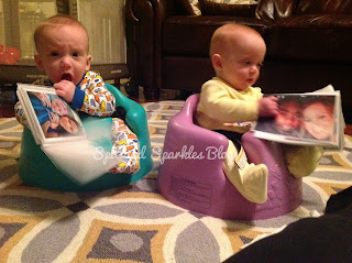 stranger anxiety, twins, 7 months