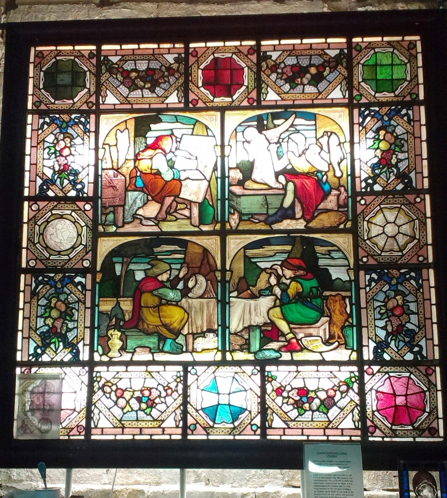Bath Aqua Glass stained glass window