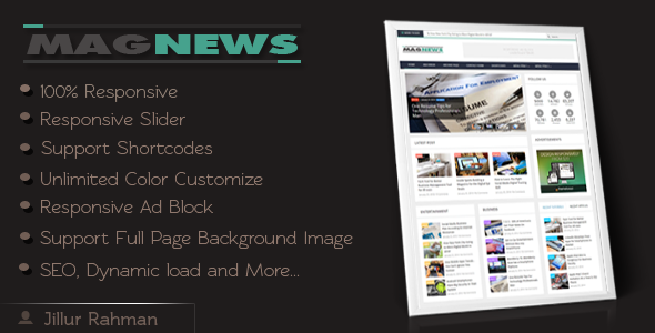 MagNews - Responsive Blogger Template