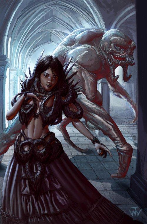 Johnny Morrow deviantart artstation ilustrações arte fantasia terror games fan-arts comics