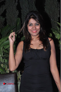 Actress Kavya Kumar Stills in Black Short Dress at F Club pre soft Launch  0001.JPG