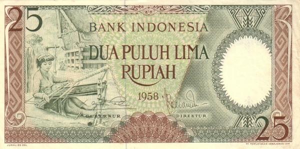 25 rupiah 1959 depan