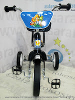PMB 919 Safari CP-Chrome Pernekel Sandaran BMX Tricycle