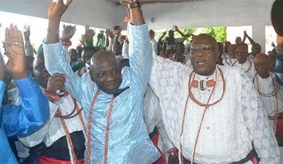Godfrey Ikenwoli Emiko named as Olu of Warri - adults to wear clothes inside-out for 3 months
