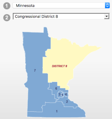 Minnesota has 8 Congressional Districts